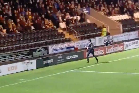 Motherwell pitch invader at St Mirren
