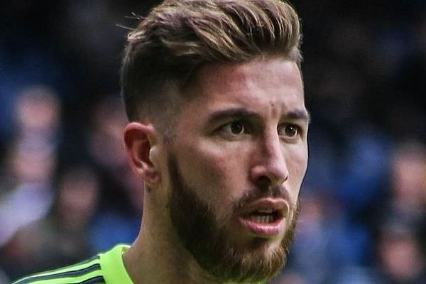 Sergio Ramos looking shocked as he would if he saw the Man Utd fan with a Ramos 18 Kiev shirt