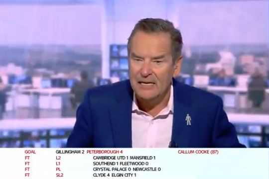 Jeff Stelling hears a blunt report on Lincoln City's winning goal at MK Dons on Sky Sports News