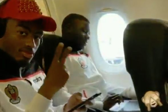 Mario Balotelli uploaded a clip of an air stewardess walking down the aisle of a plane on his Instagram