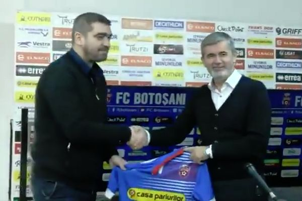 Romanian side Botoșani appoint Liviu Ciobotariu as their new manager in a press conference after the last one resigned moments earlier