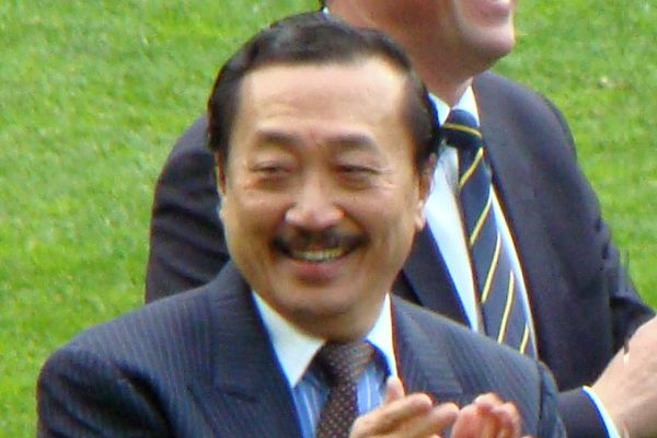 There was a fan dressed up as Vincent Tan at Cardiff vs Brighton