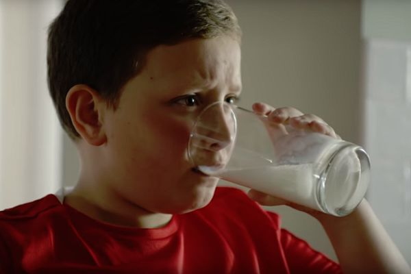 A still from the new remake of the milk advert featuring Accrington Stanley