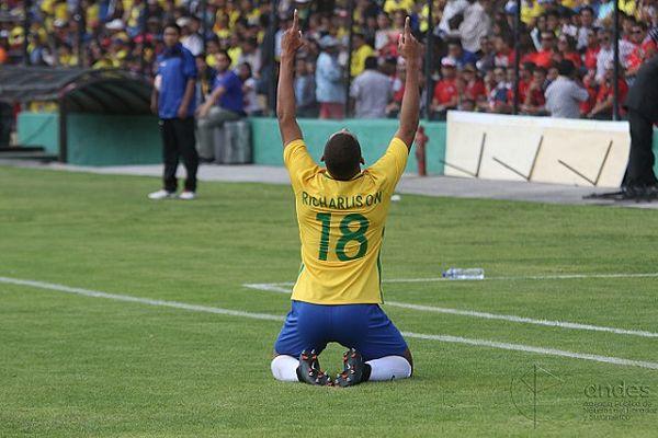 A commentator made pigeon noises for Richarlison's goal celebration dance after scoring in Brazil 1-0 Cameroon