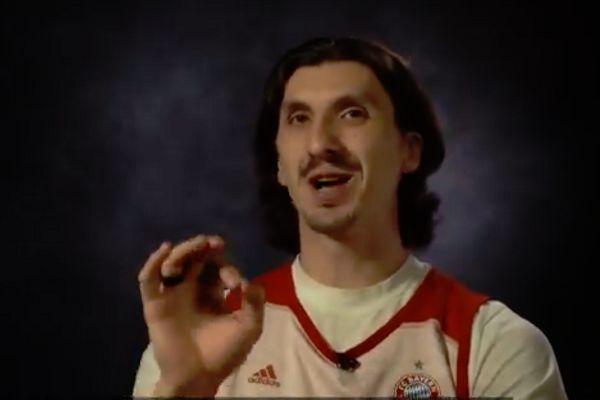 Zlatan Ibrahimović lookalike basketball player Nihad Đedović