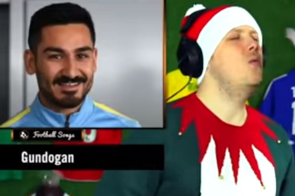 "YouTuber Game Jam sings ""Do They Know It's Christmas?"" using 119 footballer names as the lyrics"