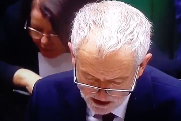 "Jeremy Corbyn seems to say ""Arsenal won 3-2"" in Parliament"