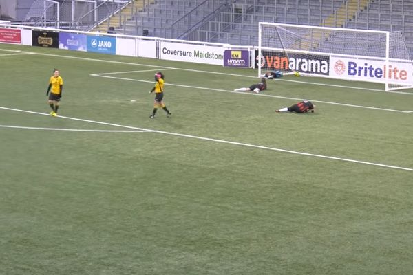 Prince Of Wales Ladies score an own goal for Maidstone United Women