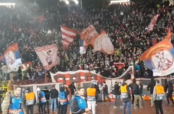 "Red Star Belgrade fans sing ""f**k you Neymar, f**k you Cavani, f**k you Mbappé, f**k you PSG"" at Champions League clash"