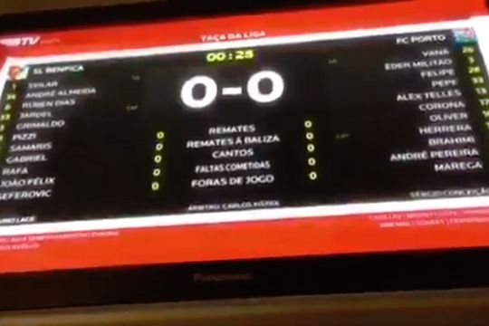 "Benfica TV calls Porto ""scum"" for arriving late to a Portuguese League Cup semi-final tie"