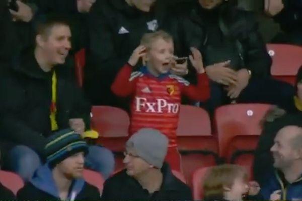 Dancing child at Watford 1-1 Newcastle