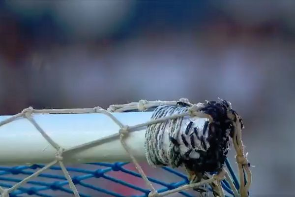 Wasp nest on goal at Cabofriense before kick-off against Botafogo in Campeonato Carioca