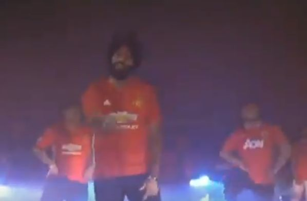 Man Utd fans sing and dance to a song about their team in Punjabi