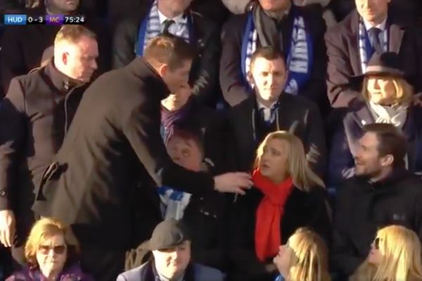 Sky Sports reporter confuses man in stands at Huddersfield for new manager Jan Siewert