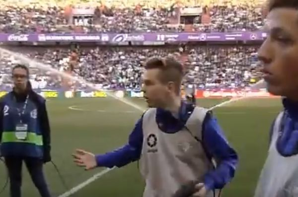 Ball boy panics after losing bag of balls before Valladolid vs Real Betis