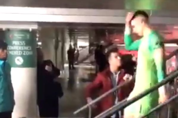 Chelsea fan snubs Kepa Arrizabalaga and shakes hands with every other player after Carabao Cup final defeat to Man City