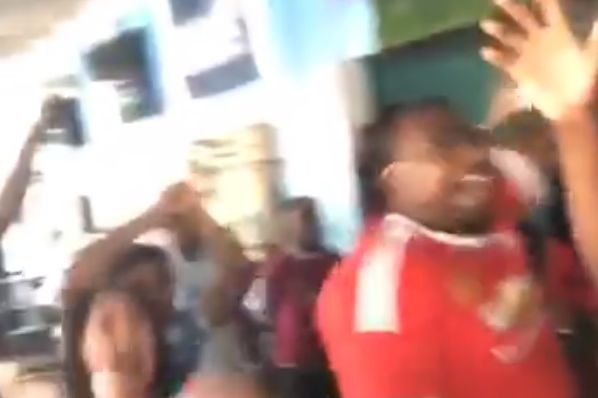 Man Utd fan celebrates Man City's Carabao Cup win in Saint Lucia bar