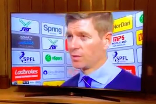 Rangers manager Steven Gerrard says £1m is eight figures in an interview