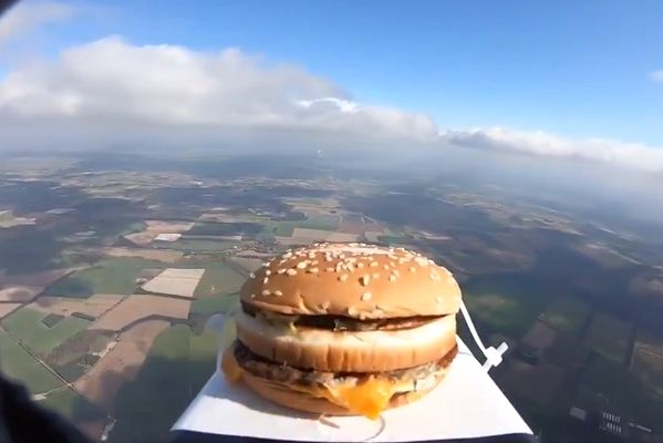 The cheeseburger launched into space that landed on Colchester United's training ground