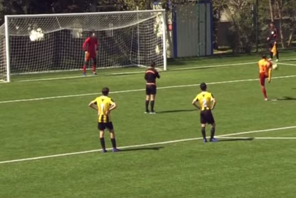 Galatasaray Under-14 captain Beknaz Almazbekov deliberately missed a penalty in a match against İstanbulspor