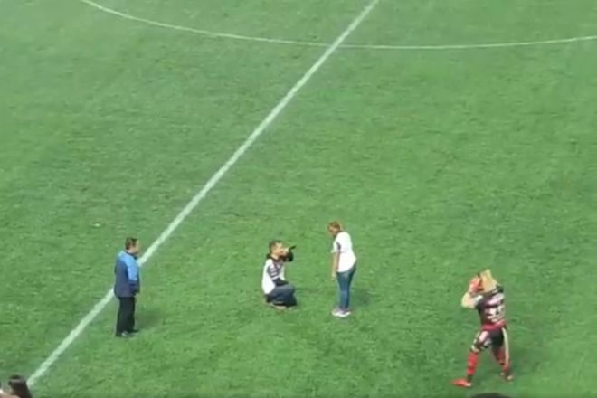 A marriage proposal on the pitch at Club Tijuana