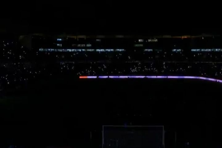The floodlights fail before Real Valladolid vs Real Madrid when the power goes out