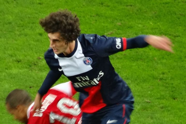 Lookalike Adrien Rabiot Liverpool supporter at Anfield
