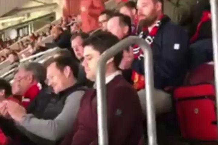 Man Utd fan asleep in his seat during a 2-1 win over West Ham at Old Trafford