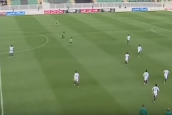Moroccan team Youssoufia Berrechid chase back and concede penalty after referee allows opponents MC Oujda to take a quick restart while they were doing a 'selfie' goal celebration