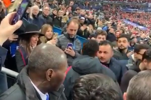 PSG's Neymar hits a fan who was filming in after the French Cup final defeat to Rennes