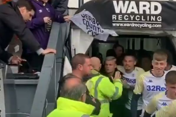 Steward tells of Leeds United's Ezgjan Alioski for shaking the players' tunnel at Derby County's iPro Stadium