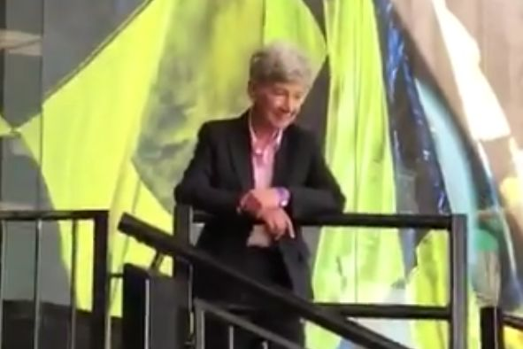 West Ham fans sing at Arsène Wenger lookalike at Vicarage Road during 4-1 win over Watford