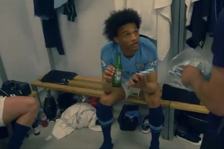 Leroy Sané and the Man City players given sticks of Brighton rock