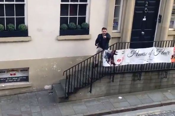 Liverpool fan sings Roberto Firmino chant with block of flats in the early morning