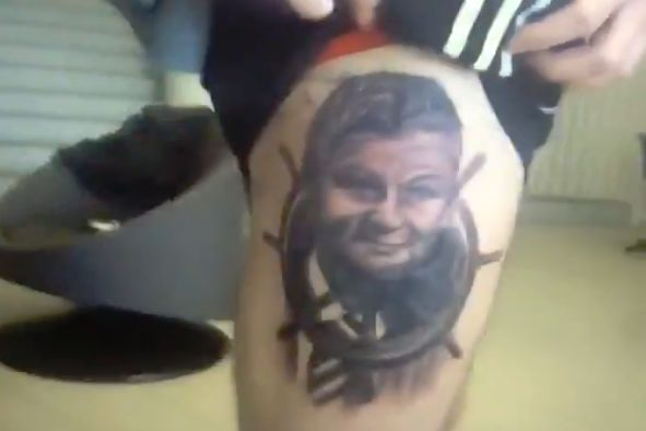 Norwegian fan's Ole Gunnar Solskjær tattoo after promise to get one if Man Utd beat PSG in the Champions League