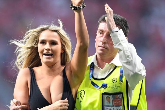 There were lots of Champions League final pitch invader jokes and tweets after the streaker appeared during Liverpool 2-0 Spurs