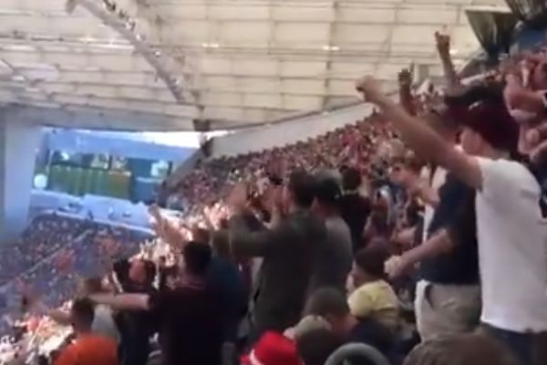 England fans chant about Harry Maguire at the Nations League final between Portugal and Holland