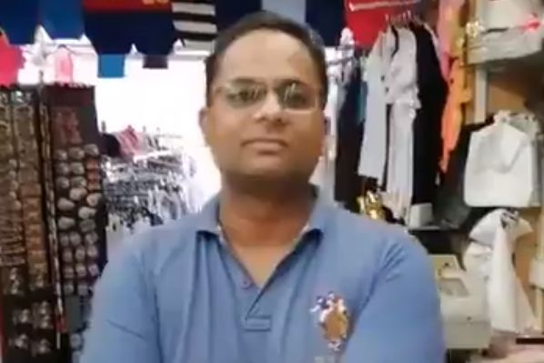 Liverpool fan asks a shopkeeper if he's stocking any Everton cups, or if he's even heard of them