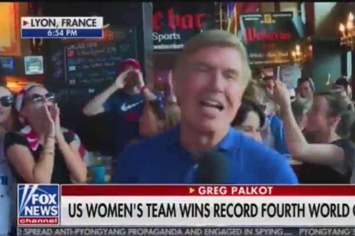 """F*** Trump"" chant during live Fox News broadcast from bar after USA's Women's World Cup final win"