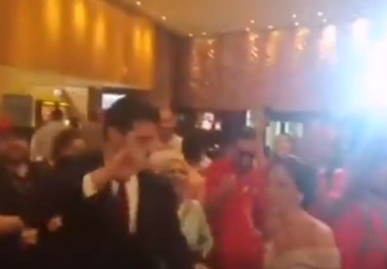 Celebrating Morocco fans sing for newlyweds they met at hotel after 1-0 win over South Africa at Africa Cup of Nations