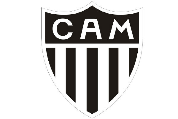 Atlético Mineiro club badge, the stripes of which one fan shaved into his chest hair