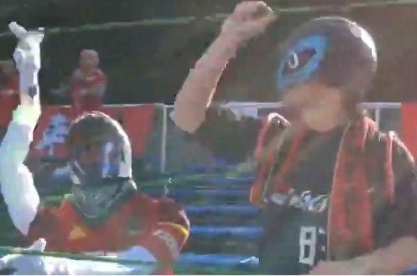 Zweigen Kanazawa with dummy supporters at away game