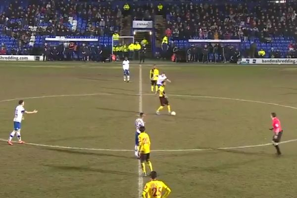 Watford's Andre Gray touches ball twice from kick-off during FA Cup defeat at Tranmere