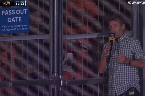 Fans watch behind-closed-doors match between Brisbane Roar and Newcastle Jets