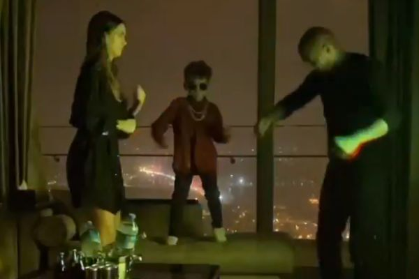 Kevin-Prince Boateng recreates a nightclub experience at home for his family
