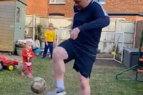 Man knocks over child with football in the back garden