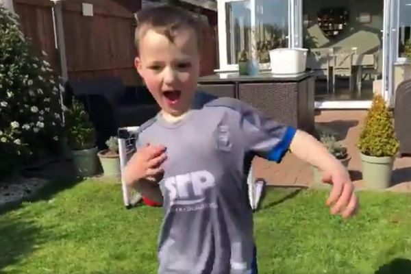 BBC Radio Lincolnshire commentator adds his voice to goal scored by young Lincoln fan at home during isolation