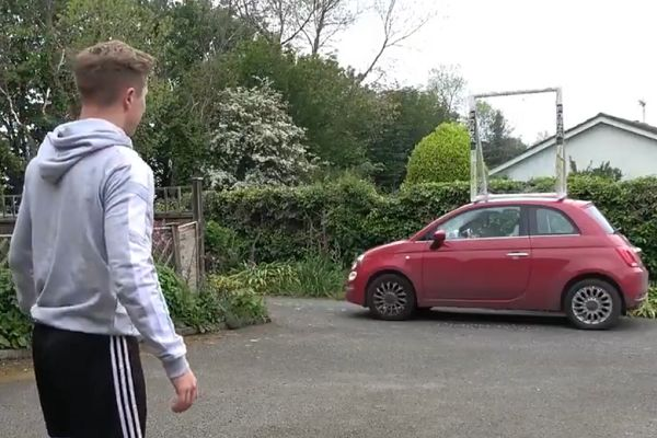 YouTuber ChrisMD smashes girlfriend's car window with volley
