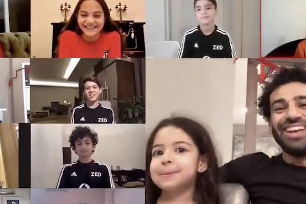Mohamed Salah's daughter Makka interrupts a video call with other children