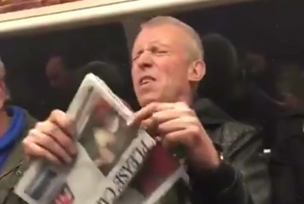 Spurs fan rants about rivals on Tube train